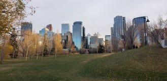 Calgary en la puesta del sol foto de archivo libre de regalías