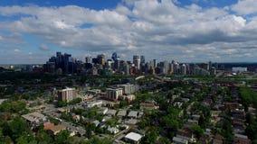 Calgary establishing shot stock footage