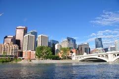 Calgary, fiume dell'arco Immagini Stock