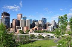 Calgary, fiume dell'arco Fotografie Stock Libere da Diritti