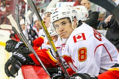 Calgary Flames center Joe Colborne Stock Images