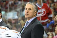 Calgary Flames head coach Bob Hartley Stock Image