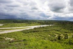 Calgary flod av 2013 Arkivbilder