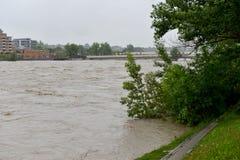 Calgary Flood 2013 Stock Photography