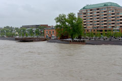 Calgary Flood 2013 Stock Images