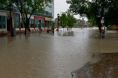 Calgary Flood 2013 Stock Photography