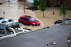 Calgary 2013 flood Royalty Free Stock Photography