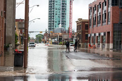 Calgary 2013 flood Stock Photography