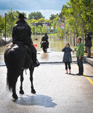 2013 Calgary Flood Police Patrol Stock Photos