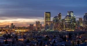 Calgary horisont Arkivfoton