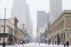 Calgary i vintern royaltyfri foto