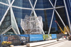 Calgary, Jaume Plensa installation Stock Photo