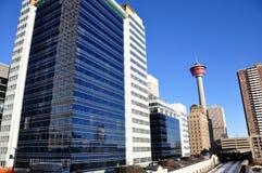 Calgary-Kontrollturm stockfotos