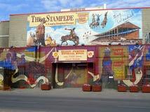 Calgary, la fuga precipitosa illustrazione di stock