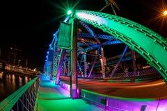 Calgary Landmark: Langevin Bridge Royalty Free Stock Photo