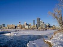 Calgary linia horyzontu, łęk rzeka Obraz Stock