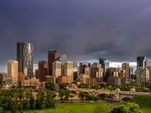 Calgary linia horyzontu Obrazy Stock