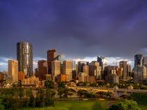 Calgary linia horyzontu Zdjęcia Royalty Free