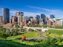 Calgary linii horyzontu panorama Zdjęcia Stock