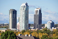 Calgary luxury condos Royalty Free Stock Image