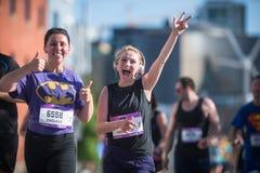 Calgary Marathon ScotiaBank 2018. 10,000 athletes royalty free stock photo