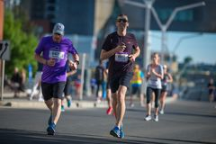 Calgary Marathon ScotiaBank 2018.  royalty free stock photos