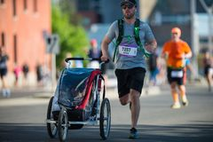 Calgary Marathon ScotiaBank 2018. 10,000 athletes royalty free stock image