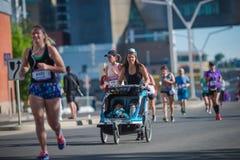 Calgary Marathon ScotiaBank 2018. 10,000 athletes royalty free stock images