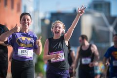 Calgary Maratoński ScotiaBank 2018 Zdjęcie Royalty Free