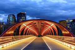 Calgary at night Stock Photo