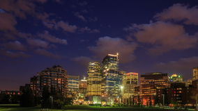Calgary at night stock footage
