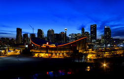 Calgary by night Stock Photography