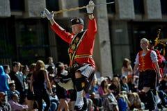 Calgary paniki parada 2014 -- wielki plenerowy przedstawienie na ziemi Obrazy Stock