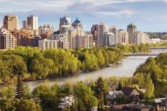 Calgary - panorama de la ciudad imagen de archivo libre de regalías