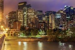 Calgary - panorama de la ciudad foto de archivo libre de regalías
