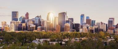Calgary - panorama van stad stock afbeelding