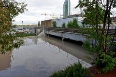 Calgary powódź 2013 Zdjęcia Royalty Free