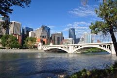 Calgary, rio da curva Foto de Stock Royalty Free