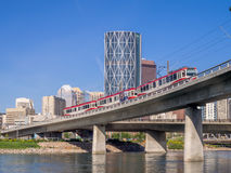 Calgary's C-Train Royalty Free Stock Images