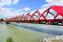 Calgary's Peace Bridge Stock Photos