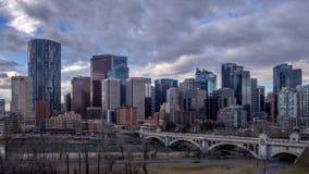 Calgary-` s Skyline stock footage