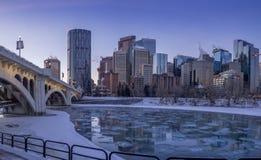 Free Calgary`s Skyline At Sunrise Royalty Free Stock Photos - 82742408