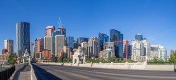 Calgary's skyline Royalty Free Stock Photos
