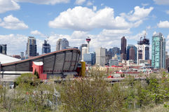Calgary's urban jungle Royalty Free Stock Photos