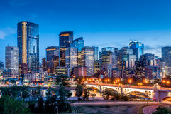 Calgary-Skyline Stockbild
