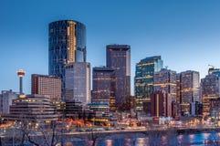Calgary-Skyline Lizenzfreies Stockfoto