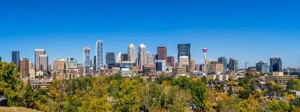 Calgary Skyline Royalty Free Stock Images