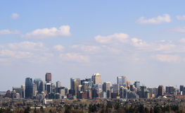 Calgary Skyline. A view of downtown calgary, alberta, canada Stock Image