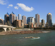 Calgary Skyline Royalty Free Stock Image
