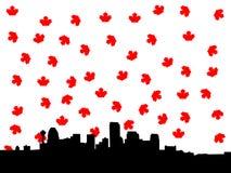 Calgary skyline in autumn illustration Stock Photography